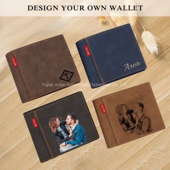Personalized Gifts Men Personalized Wallets Custom Photo Wallets PU Leather Wallet for Men,Husband,Dad,Son