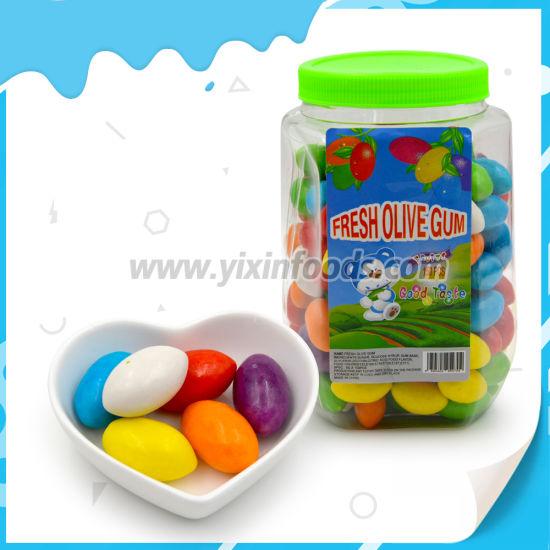 Big 4.5g Colorful Olivary Bubble Gum