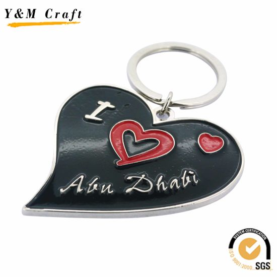 China Wholesale Metal Dubai Logo Key Chain for Promotional Gift