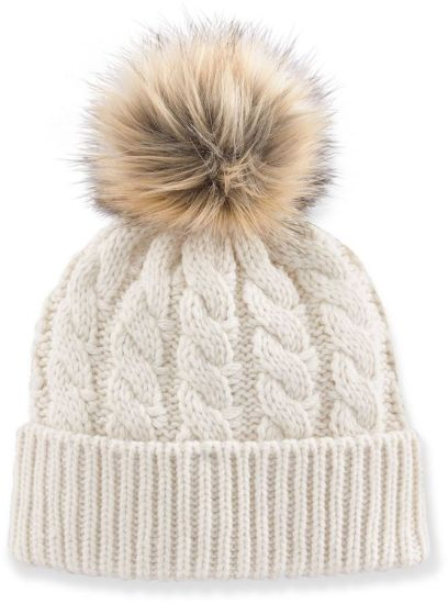 China Ball Top Knitted Hat White Custom POM POM Beanie Hat - China ... ffed193b6d1