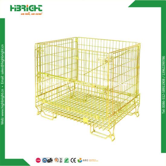 China Warehouse Storage Galvanized Wire Mesh Containers China Wire