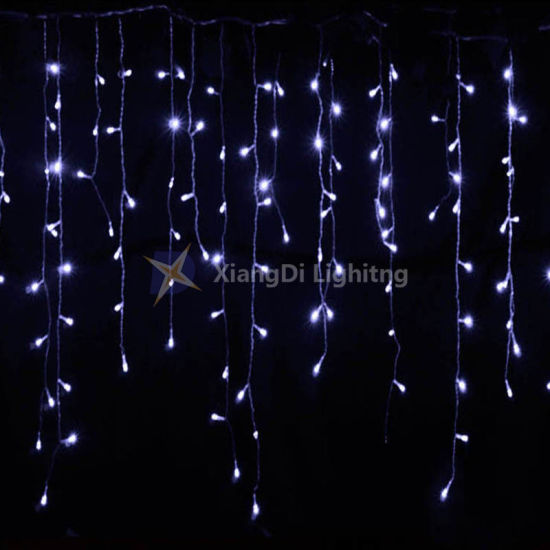 China 5mm mini led curtain icicle lights 3m x 3m 300leds outdoor 5mm mini led curtain icicle lights 3m x 3m 300leds outdoor indoor led warm white string lights for wedding party home living room decoration aloadofball