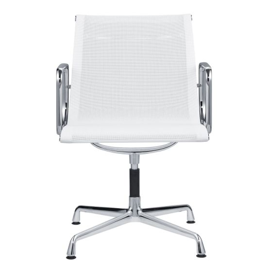 Low Back White Mesh Conference Table Meeting Office Chair for Fat People Iron Chair