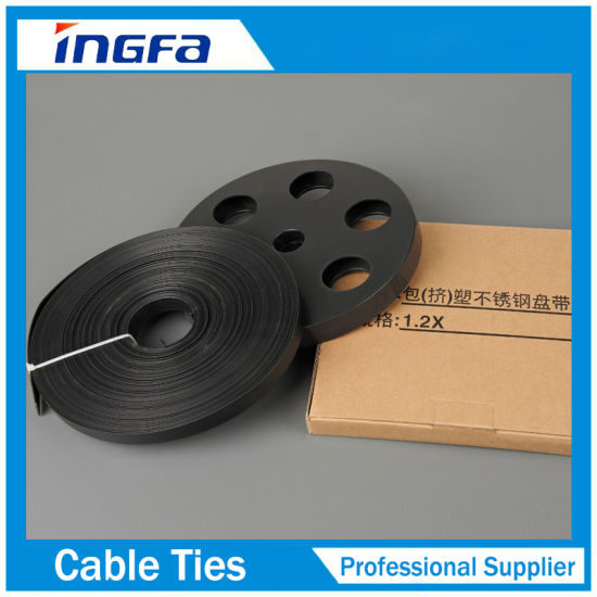 f065a3dcbb2 SS316 Stainless Steel Cable Strap with PVC Coated Black Color pictures    photos