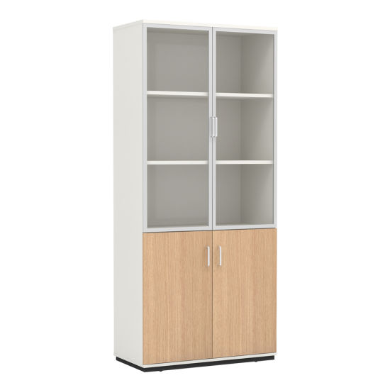 High Quality Laminate Wooden File Cabinet With Glass Door