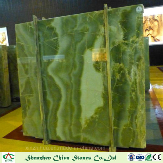 Building Material Natural Stone High Quality Luxury Green Onyx Slabs For Wall Tiles Countertops
