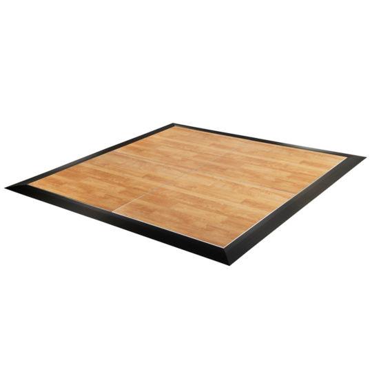 Party Hire Wooden Portable Dance Floor Black White Event Flooring