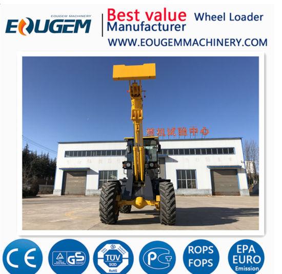 China Tl2000 2 Ton Telescopic Boom Wheel Loader with