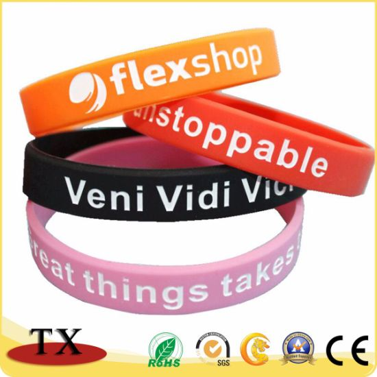 Sports Silicone Bracelet and Rubber Wristband