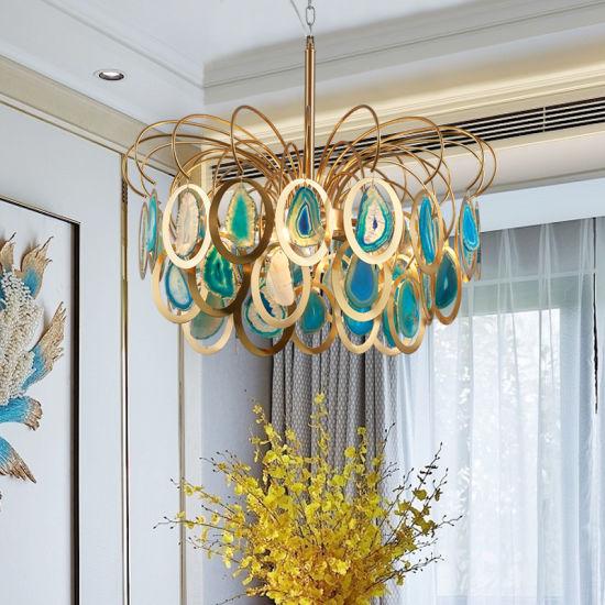 Modern Fashion Crown Agate Bedroom Chandelier