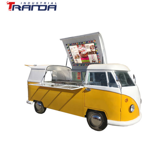 VW Factory Directly Supplied Mobile Food Truck with Big Capacity Bus Seat Food Table Electric Food Truck