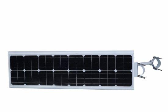 High Lumens 50W Solar Street Light PIR Sensor LiFePO4 Battery