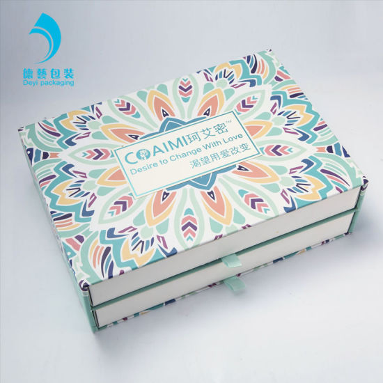 Jewellery Boxes 2 PCS Drawers Art Paper Packaging Custom Design Gift