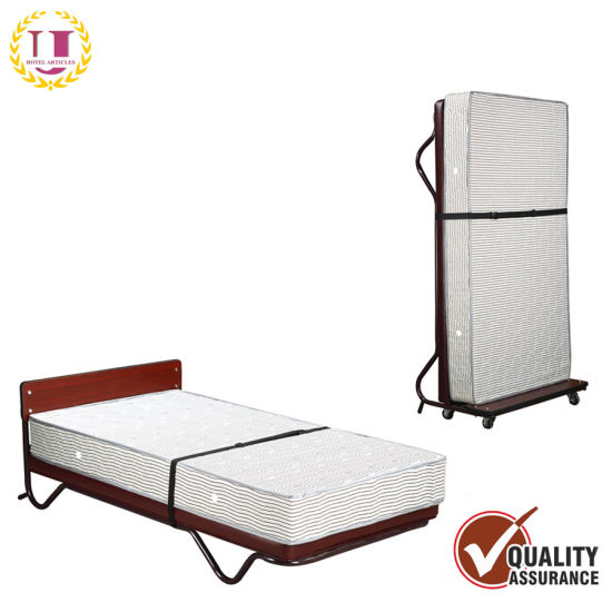 Hotel Supplies Comfortable Single Upright Bed with Spring Mattress