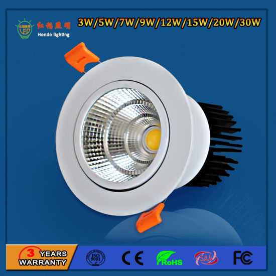 24 Degree Narrow Beam Angle Dimmable 2 5inch 5w Cob Led Ceiling Spot Light Lamp Pictures