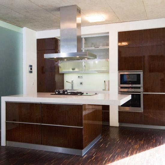 Factory Outlet Affordable Price Wood Veneer Ghana Kitchen Cabinet