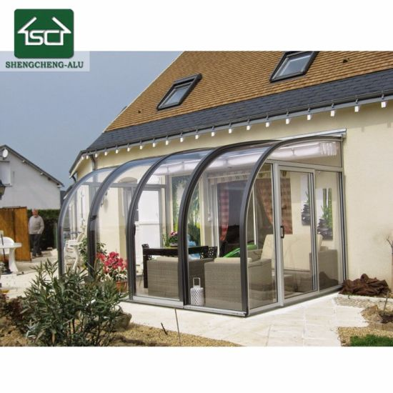 China Aluminium Sun Room Morden Glass House Commerical Garden Room