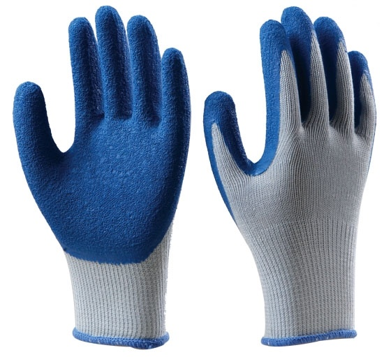 Free Sample Hppe Anti-Cut 5 Crinkle Latex Coated Work Safety Gloves with Glass Fiber Liner