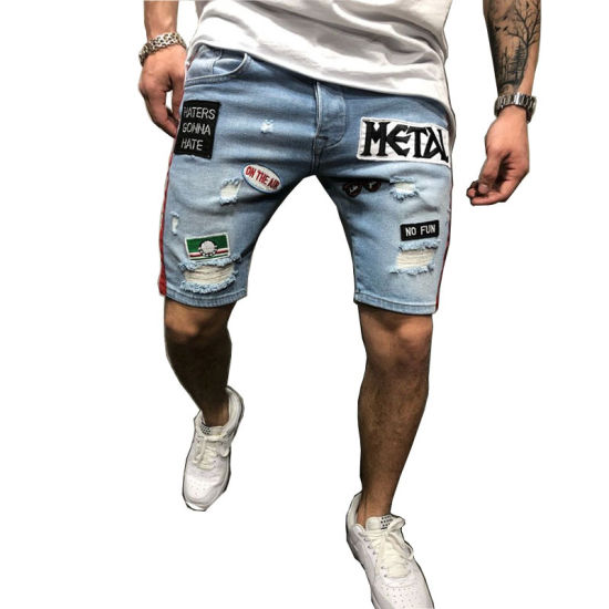 Stretchy Skinny Jeans Slim Fit Embroidery Design Short Men's Short - China Short  Jean Men and Jeans Shorts Men price | Made-in-China.com