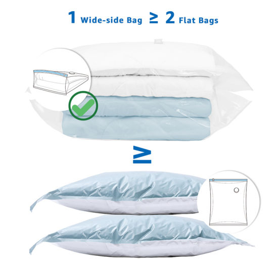 Wideside Vacuum Seal Storage Bags for Quilts Bedding and Clothes