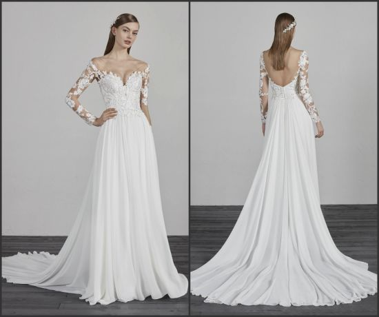 2018 White//Ivory Wedding Dress Bridal Ball Gown Custom Size 6-8-10-12-14-16-18++