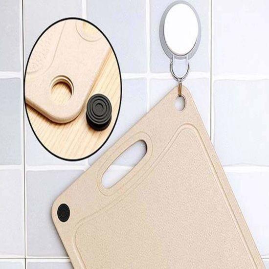 Medium Wheat Straw Hangable Chopping Board, Cutting Board with Juice Grooves/Kitchen Cutting Board
