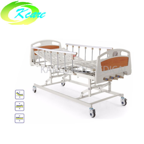 Wholesale Three Functions Cranks Manual Medical Hospital Bed for Cheap Price