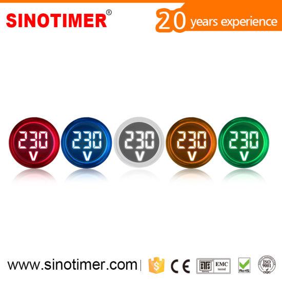 China 22mm Led Digital Display Gauge Volt Voltage Meter