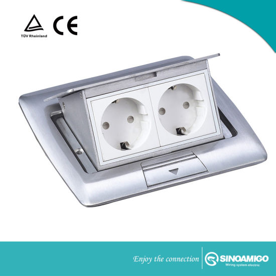 China Access Floor Power Outlet With Sockets And Switches