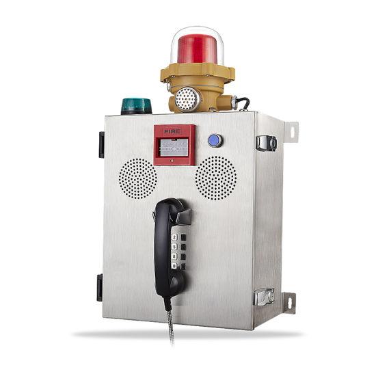 Mine Fire Radio Manual Fire Alarm Call Point Knzd-41 Sos Telephone