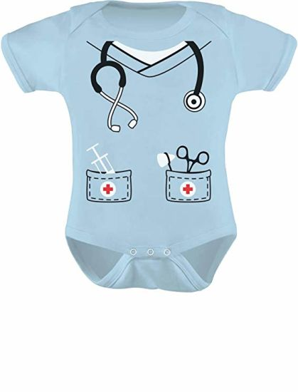 Infant Doctor, Nurse, Physician Halloween Easy Costume Cute Baby Bodysuit pictures & photos