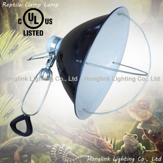 UL Clamp Lamp Repticare Ceramic Infrared Heat Emitter Incubator Lamp with Wire Guard