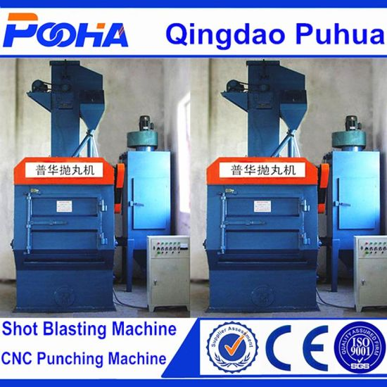 Q32 Crawler Rubber Belt Shot Blasting Machine for Metal Parts pictures & photos