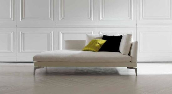 China Small Chaise Sofa Fabric For