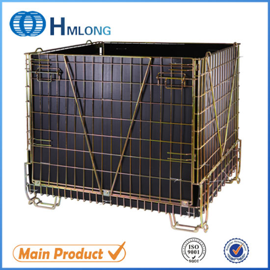 China Industrial Stackable Storage Wire Mesh Containers China Wire
