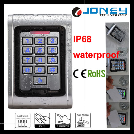 IP68 Metal Door Access Controller Waterproof RFID Card Reader