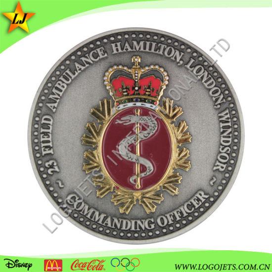 China Promotion Custom Made 3D Logo Zinc Alloy Souvenir Gold Metal Challenge Coin