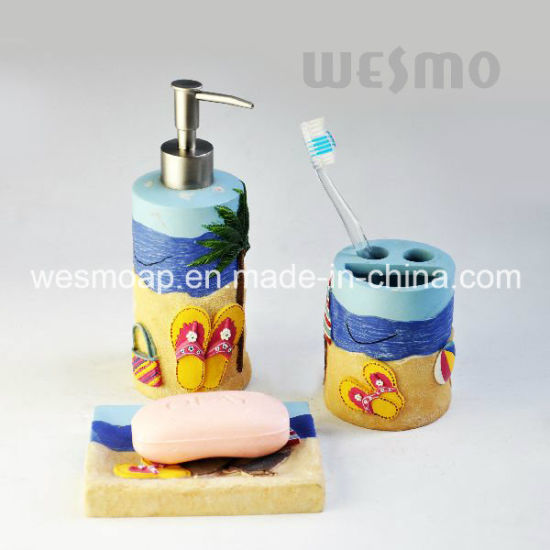 Seashore Theme Polyresin Bathroom Set (WBP1097A) pictures & photos