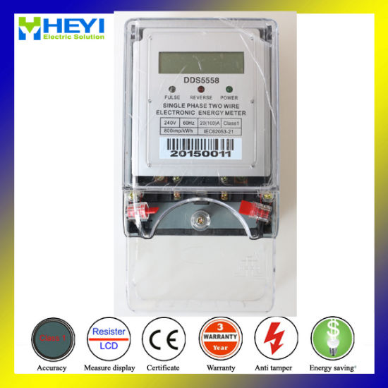 Turn Off Electric Meter Single Phase Lcd Display With Plastic Seal Free