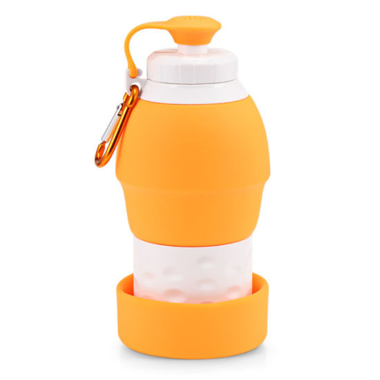 US Outdoor Foldable Reusable Collapsible Silicone Water Bottle For Outdoor Sport