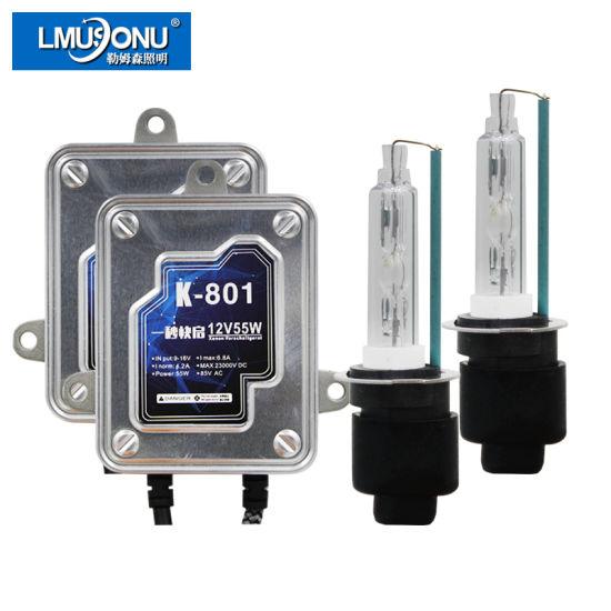 AC 12V 55W Fast Start Car Headlight HID Xenon Light Kit H1 H3 H7 H11 9005 9006 9012 D2h 3000K 4300K 6000K 8000K