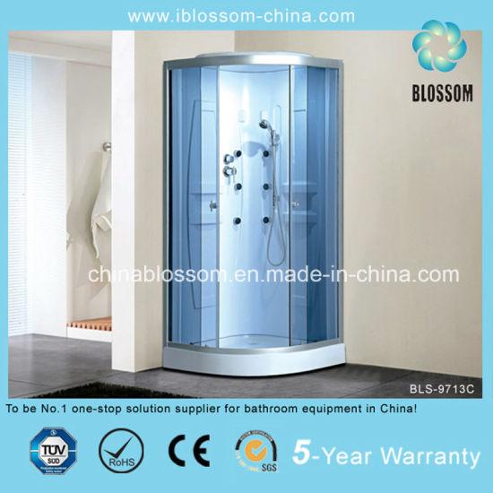 Blue Glass Massage Shower Room Sauna/Steam Shower Cabin (BLS-9713C)