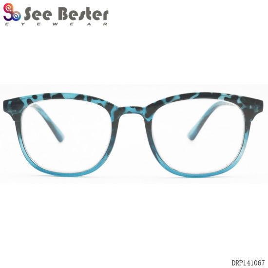 See Bester Plastic Retro Tortoise PC Fashionable Reading Glasses with Gradient Color Eyewear pictures & photos