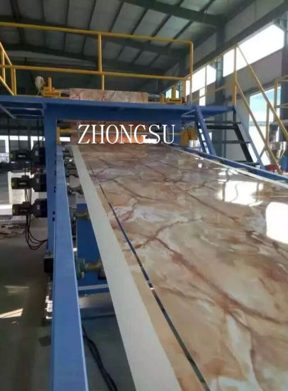 Low Powr Consumpiton PVC Imination Marble Sheet Making Machine / PVC Imination Marble Board Production Line pictures & photos