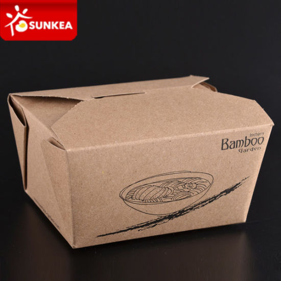 Take out Kraft Paper Box for Food