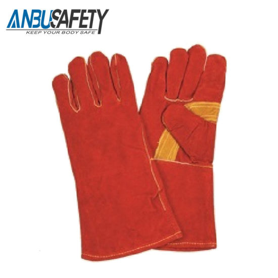 Wholesale Cowhide Leather Gloves Long Welding Work Gloves