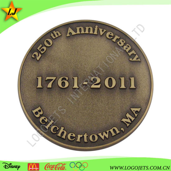 Colorless Antique Gold Plated Zinc Alloy Coin 3D Design Challenge Coin