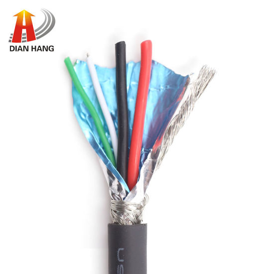 Hot Sale USB Cable 30V Awm UL2725 4c 28AWG+24AWG USB Cable Od4.4mm Data Cable PVC Insulated Red Wire Electrical Copper Thinned Control Wire Power Cable