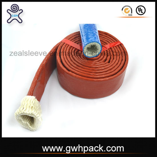 Fire Sleeve Braided Fiber Glass Sleeve Coated with Silicone pictures & photos