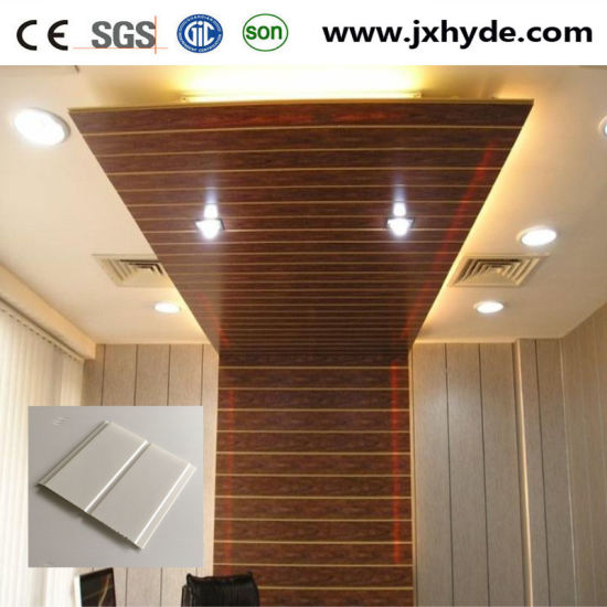 Light Weigh Middle Groove Home Decoration Pvc Panel For Wall And Ceiling